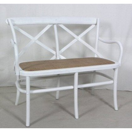 Λευκό Παγκάκι διθέσιο από ξύλο