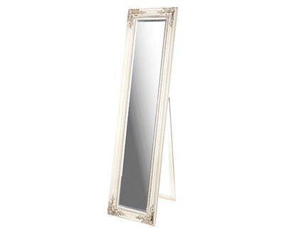Ορθογώνιος ξύλινος καθρέπτης δαπέδου πατίνα