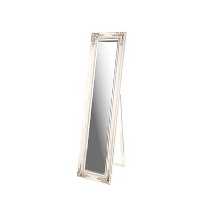 Ορθογώνιος ξύλινος καθρέπτης δαπέδου πατίνα 1