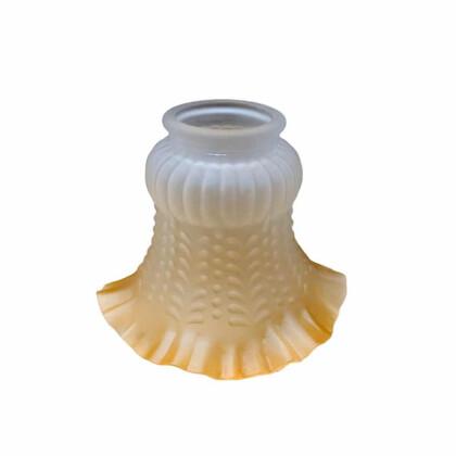 Γυαλί Φωτιστικού Λευκό Μελί | Υποδοχή Βιδάκια