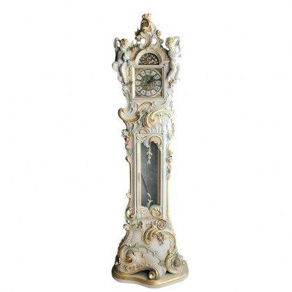 Κλασικό Ρολόι Εδάφους Ξυλόγλυπτο Ζωγραφιστό