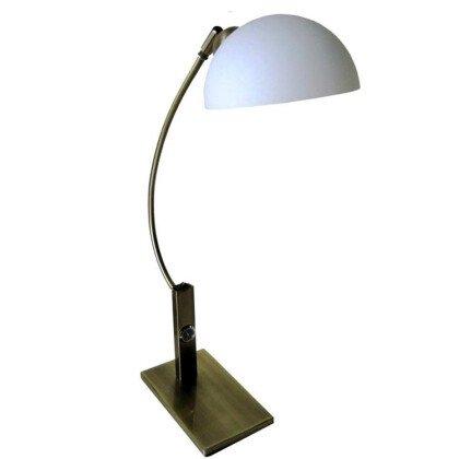 Λάμπα Γραφείου Γυαλί | Bronze & Nikel - Φωτιστικά Γραφείου