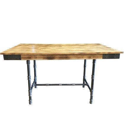 Ξύλινη Τραπεζαρία Industrial | Τραπέζι Ξύλο Μέταλλο