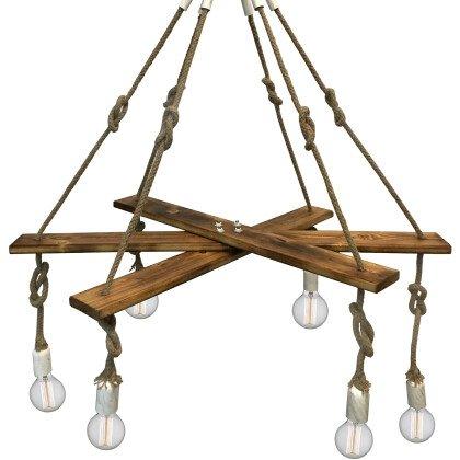 Κρεμαστά ξύλινα Φωτιστικά LAMPADARI