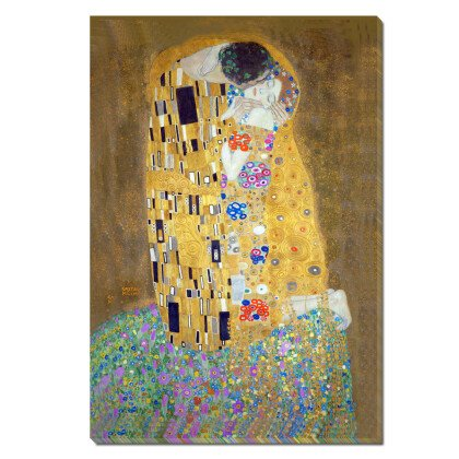 Πίνακας φιλί | Παραλληλόγραμμος Κάθετος Καμβάς Gustav Klimt