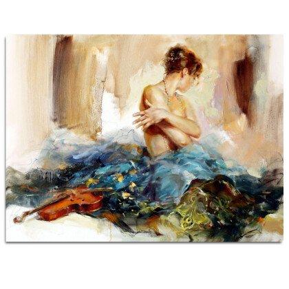 Γυναίκα με Βιολί | Παραλληλόγραμμος Πίνακας