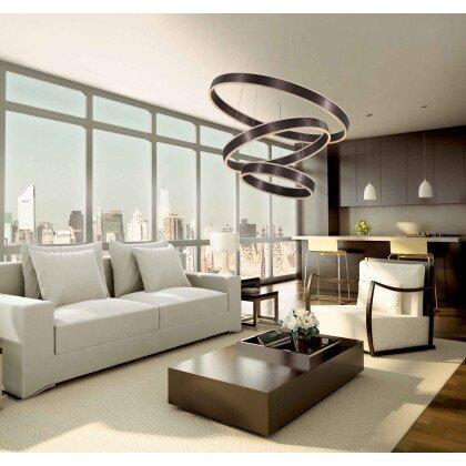 LED Φωτιστικό Καφέ Manhattan Brown Exclusive Nova Luce