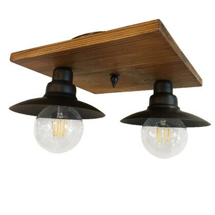 Ξύλινο Φωτιστικό Οροφής | Μοντέρνο Βιομηχανικό Πολύφωτο