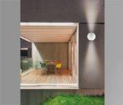 LED Απλίκα Sphere | Λευκό Minimal Επιτοίχιο Φωτιστικό Up & Down