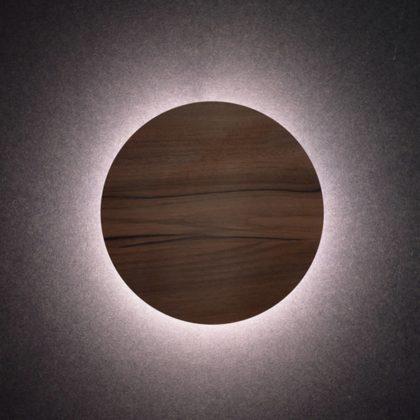 LED Φωτιστικό Eclipse Ξύλο | Στρογγυλό Φωτιστικό Τοίχου & Οροφής