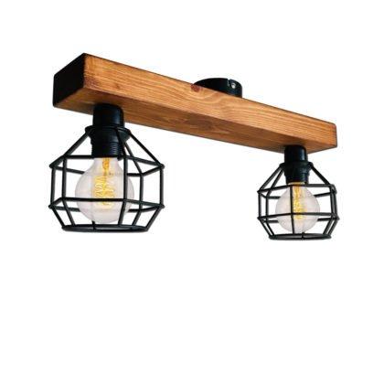 Ξύλινο Φωτιστικό Οροφής Gridy | Minimal - Industrial