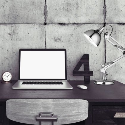 Φωτιστικό Γραφείου Silver | Ασημί Μοντέρνο Φωτιστικό