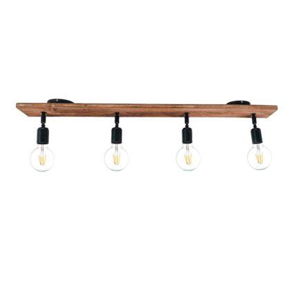 Φωτιστικό Οροφής Ξύλινο | Minimal Industrial Φωτιστικό
