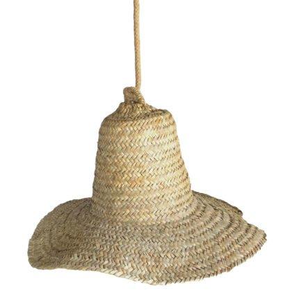 Φωτιστικό Καπέλο Bamboo | Μονόφωτη Καμπάνα Μπαμπού XL