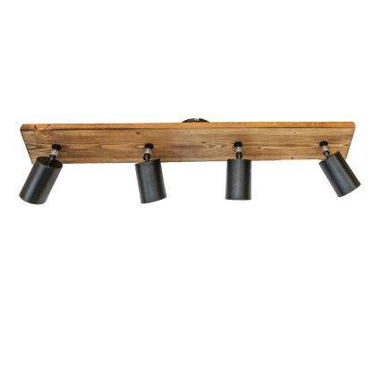 Ξύλινο Φωτιστικό Οροφής Σποτ | Minimal - Industrial