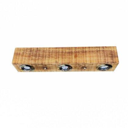 Ξύλινο Σποτ Φωτιστικό Οροφής | Ξύλινος Κορμός