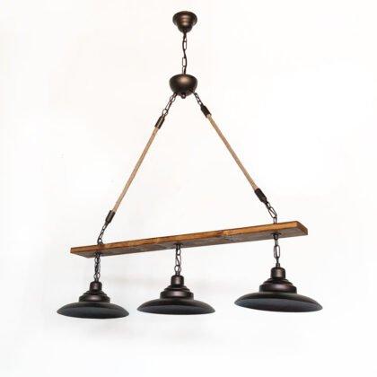 Ξύλινο Κρεμαστό Φωτιστικό Trio | Minimal - Industrial