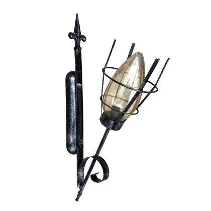 Απλίκα Πυρσός Iron Black | Μεσαιωνικό Φωτιστικό Τοίχου