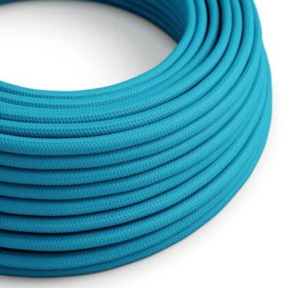 Υφασμάτινο Καλώδιο Γαλάζιο Τιρκουάζ | Διακοσμητικό Κορδόνι 2x0.75