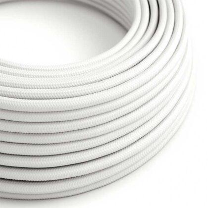 Υφασμάτινο Καλώδιο Λευκό | Διακοσμητικό Κορδόνι 2x0.75
