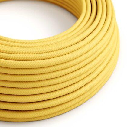Υφασμάτινο Καλώδιο Κίτρινο | Διακοσμητικό Κορδόνι 2x0.75