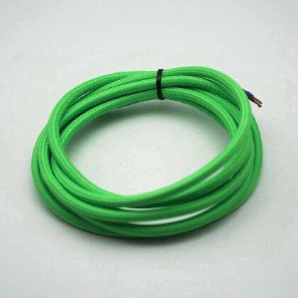 Υφασμάτινο Καλώδιο Πράσινο | Διακοσμητικό Κορδόνι 2x0.75