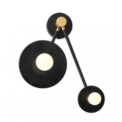 Απλίκα Clock Μαύρο Μάρμαρο | Επιτοίχιος Φωτισμός