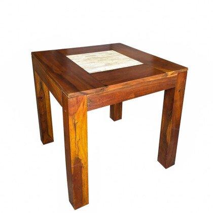 Ξύλινο Τετράγωνο Τραπέζι | Παλίσανδρος & Αλάβαστρο