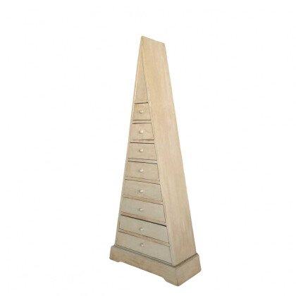 Συρταριέρα Γραφείου Πυραμίδα Μπεζ Πατίνα