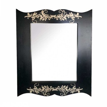 Μοντέρνος Καθρέφτης Floral