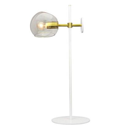Μοντέρνο Φωτιστικό Πορτατίφ Λευκό - Χρυσό