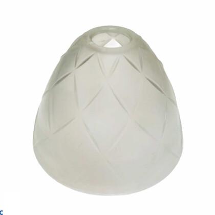 Γυαλί Φωτιστικού Λευκό Σκαλιστό | Υποδοχή E14 Ροδέλα