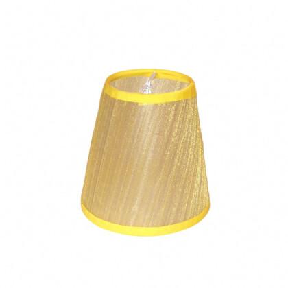 Κίτρινο Αμπαζούρ Πολυελαίου 11X11   Καπελάκι Φωτιστικού