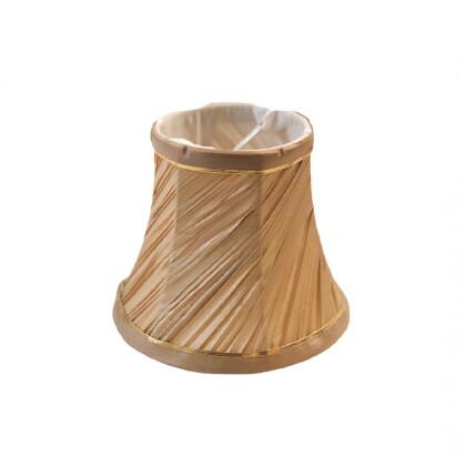 Μπεζ Χρυσό Αμπαζούρ Πολυελαίου 13X11   Καπελάκι Φωτιστικού