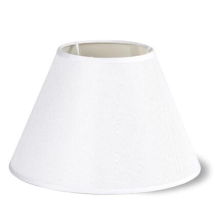 Καπέλο Φωτιστικού Λινό Λευκό Κωνικό