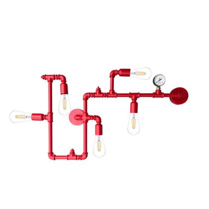 Φωτιστικό Ranger Μεταλλικοί Σωλήνες Κόκκινο - Industrial