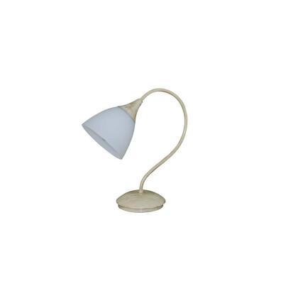 Μεταλλικός κορμός μπεζ-χρυσο πατίνα οπαλ γυαλί λευκό.