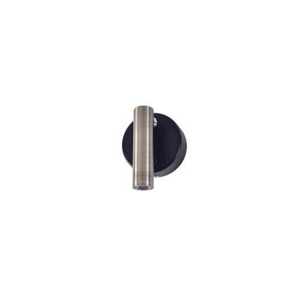 Στρογγυλή βάση και led χρώματος λευκού ματ με διακόπτη. Στρογγυλή βάση και led χρώματος χρώμιο ματ με διακόπτη.  Στρογγυλή βάση μαύρη ματ με led χρώματος μπρονζέ με διακόπτη.
