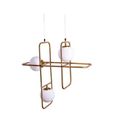 Κρεμαστό φωτιστικό με γυαλί χρώματος Brushed Bronze.