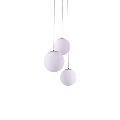 Οπαλίνα λευκή με ανάρτηση σε χρώμιο.