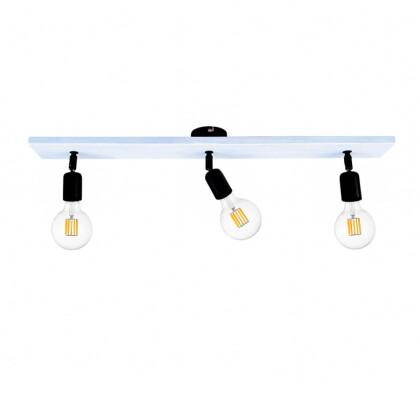 Φωτιστικό Οροφής Λευκό Ξύλινο   Minimal Industrial Φωτιστικό