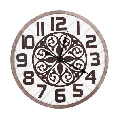 ΣΤΡΟΓΓΥΛΟ ΞΥΛΙΝΟ ΡΟΛΟΙ ΤΟΙΧΟΥ 60εκ 1-133-91-526