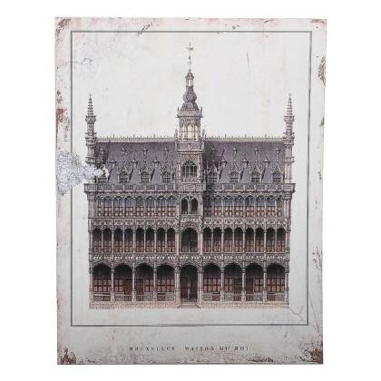 """ΞΥΛΙΝΟ ΚΑΔΡΟ """"Bruxelles Maison Du Roi"""" ΜΠΕΖ-ΚΑΦΕ 40*2.7*30 1-159-92-006"""