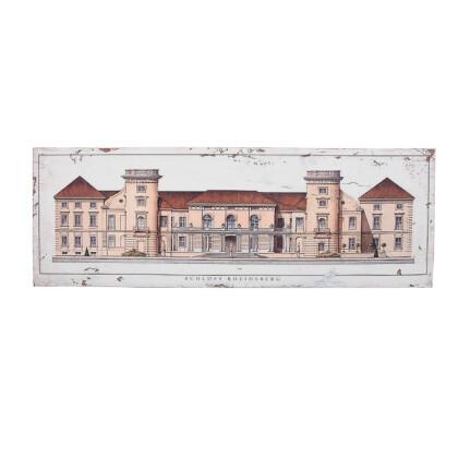 """ΞΥΛΙΝΟ ΚΑΔΡΟ """"Schloss Rheinsberg"""" ΜΠΕΖ-ΚΑΦΕ 120*3.5*40 1-159-92-001"""
